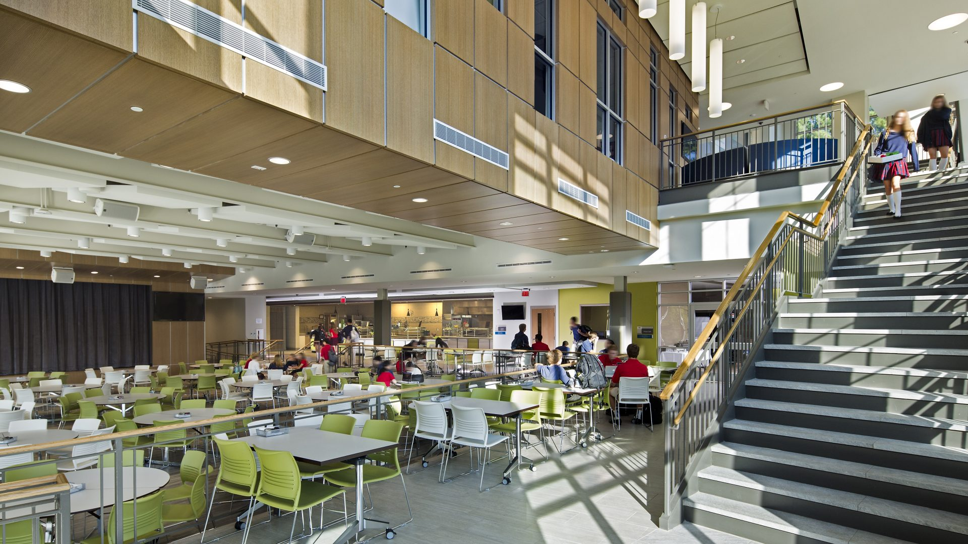 Mpcs Geier Hall Upper School And Dining Commons Collins Cooper Carusi Architects